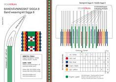 Band weaving kit Sigga 8 Inkle Weaving, Inkle Loom, Card Weaving, Tablet Weaving, Weaving Art, Weaving Patterns, Loom Board, Finger Weaving, Peg Loom