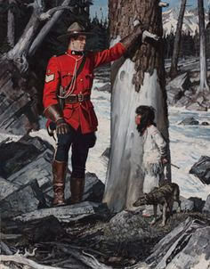 Canadian Mountie RCMP print, A Fribergindian child Canadian History, Canadian Art, Roi George, Fur Trade, Military Pictures, Le Far West, Mountain Man, Sports Art, Military Art