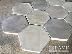 "La Vie Douce French Provincial Aged Terra Cotta Tile Special Lot: Tomette 5 1/4"" x 5 1/4"" x 3/4 500 sf $18.00/sf wall and floor application Color: Gris Melangé (mixed greys)"