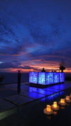 Sunset On Tirtha Luhur Uluwatu Bali on Our Wedding Day 22-12-12