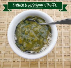 4 You With Love: J Gumbo's Inspired Spinach & Mushroom Etouffe