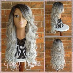 Hey, I found this really awesome Etsy listing at https://www.etsy.com/listing/249309758/on-sale-long-curly-silvergray-lace-front