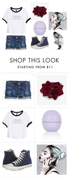 """""""Sin título #2141"""" by aiag ❤ liked on Polyvore featuring J.Crew, H&M, Topshop and Converse"""