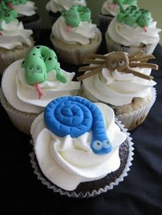 Snake Cupcake Toppers Cookies and Cups