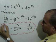 Derivadas de funciones algebraicas: Julio Rios explica el proceso de derivación de tres funciones algebraicas, utilizando la Regla de la Suma y la Resta.