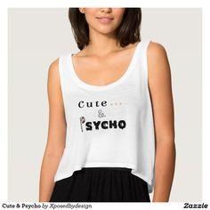 Cute & Psycho Flowy Crop Tank Top