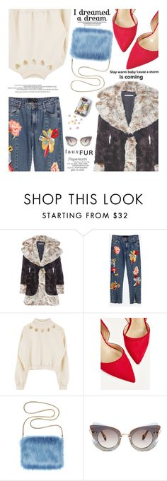 """""""Fur Coat"""" by zayngirl1dlove ❤ liked on Polyvore featuring Alessandra Rich, SANCHEZ and Miu Miu"""