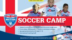British Soccer Camps  are the most popular soccer camp in the US. With an innovative curriculum that develops skills, speed and confiden...