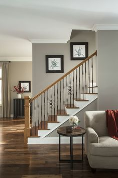 Photo Gallery Highest quality of the stair industry on iron balusters and parts. House Staircase, Staircase Remodel, Stairs, Stair Railing, Railing Design, Staircase Design, Interior Railings, Traditional Staircase, Stair Decor