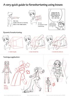 Character Design Reference Tutorial: Body Proportion Based on Perspective Drawing Reference Poses, Drawing Poses, Manga Drawing, Reference Images, Comic Drawing, Drawing Lessons, Drawing Techniques, Drawing Tips, Drawing Ideas