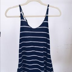 "Brandy Melville Striped Tank ♡""vintage"" Brandy Melville ♡deep navy  ♡striped  ♡racerback  ♡low cut Brandy Melville Tops Tank Tops"