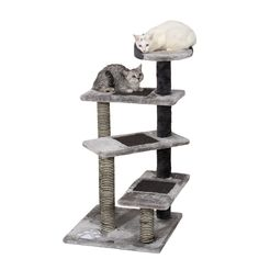 Ollieroo 40' H Multi-Level Kitten Cat Tree Furniture Climber 5 Tiers Cat Tower Cat Scratching Pads Scratching Posts Use the Steps as a Ladder to Climb Kitty Tree * Trust me, this is great! Click the image. : Cat Tree