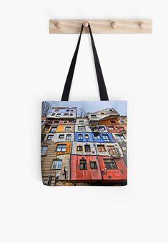 'The Hundertwasserhaus - Vienna' Tote Bag by Hercules Milas - Popular in Redbubble -
