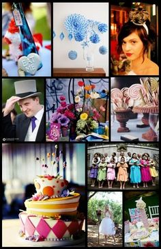 Alice in Wonderland theme - looks like such a fun time! i love the centerpieces!