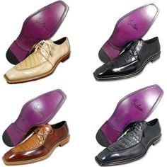 f8a388eba3f MEZLAN Men Shoes Barnston Assorted Crocodile Dress Shoes