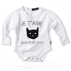 Valentina Grower - Cat on White Little Girls, Onesies, Girl Outfits, Dressing, Cats, Clothing, Collection, Fashion, Midget Cat