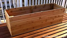 how to build nice planter boxes economically container gardening gardening how to raised garden beds woodworking projects Balcony Planters, Wooden Planters, Diy Planters, Hanging Planters, Vegetable Planters, Balcony Garden, Vegetable Gardening, Pallet Gardening, Garden Pool