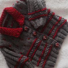 Diy Crafts - Winter Warm Baby jacket Knitting pattern by Seasonknits Christmas Knitting Patterns, Baby Knitting Patterns, Yarn Winder, Baby Scarf, Universal Yarn, Crochet Fall, Plymouth Yarn, Paintbox Yarn, Baby Warmer
