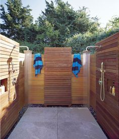 Out door Shower.. Awesome for Summer (sand volleyball, pond swimming, and dirty kids)