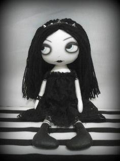 OOAK Gothic Art Rag Doll  Lauren by ChamberOfDolls on Etsy