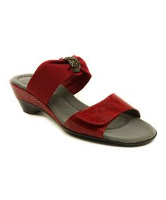 Look what I found on #zulily! Red Neva Sandal #zulilyfinds
