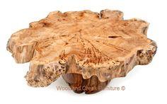 Burl Wood Slab Coffee Table by Woodland Creek