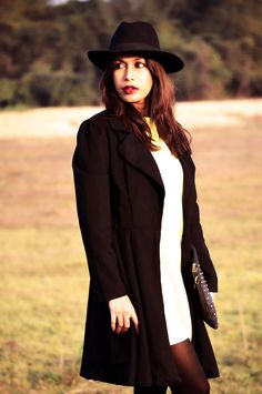 Yellow, Fashion, Style, Indian Fashion Blogger, Photography, Black Coat, Fedora Hat, Street Style-2