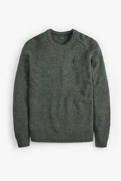 Black Lambswool Crew Jumper