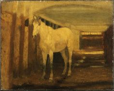 """The White Horse,"" Albert Pinkham Ryder, oil on canvas, 8 1/16 x 10"", Princeton University Art Museum."