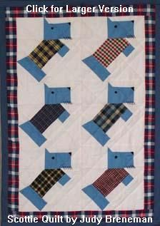 Learn about: Quilt Patterns Through Time...Patterns From the Mid 1900s for Doll & Baby Scottie Dog Quilts...Scottie dog doll quilt