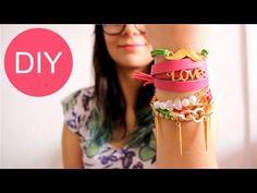 Ideas para hacer pulseras Arm Candy / Accesorios de Moda - Hablobajito - YouTube