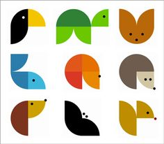 Awesome! Animodul Branding Design by Atipo in Spain... one shape can make so many animals! Might have to make these in cardboard as a puzzle.