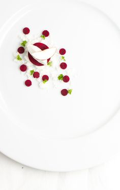 Goat Cheese, Milk crumble and beetroot