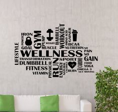 Fitness-Studio Wand Aufkleber Wellness Wort Cloud Fitness   Etsy Basement Gym, Muscle Nutrition, Workout Posters, How To Remove, How To Apply, Get Moving, Fitness Studio, Wands, Wellness