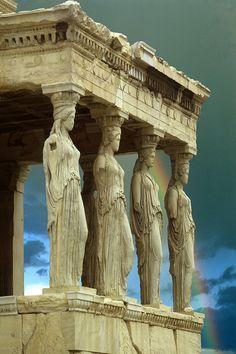 Porch of the Caryatids, Parthenon, Athens Greece, photo by Jim Zuckerman.