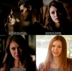 Proves that Elena says the same thing over and over again