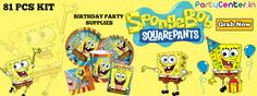 Buy Spongbob Party Supplies Only at Partycenter.in
