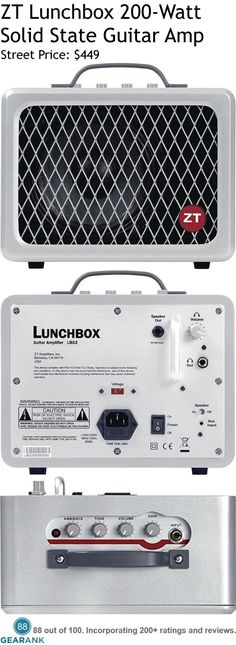 ZT Lunchbox 200-Watt Solid State Guitar Amplifier. Check out this guide to The Best Solid State Guitar Amps: https://www.gearank.com/guides/solid-state-guitar-amps