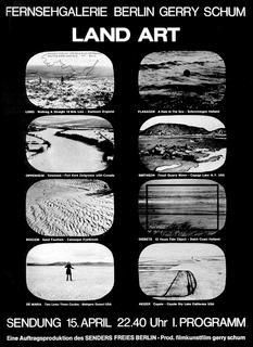 Gerry Shum Land Art (1969) : The 8 artists, Richard Long, Barry Flanagan, Dennis Oppenheim, Marinus Boezem, Robert Smithson, Jan Dibbets, Walter de Maria, Mike Heizer co-operated closely with Schum.