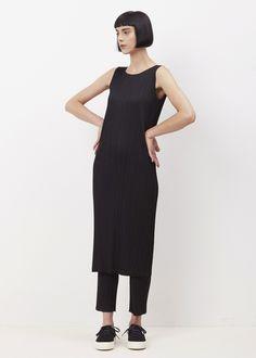 Issey Miyake PLEATS PLEASE Basic Straight Pleated Pants (Black)
