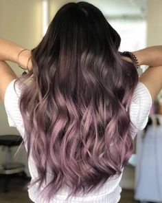 87 unique ombre hair color ideas to rock in 2018 - Hairstyles Trends Hair Dye Colors, Ombre Hair Color, Cool Hair Color, Trendy Hair Colors, Balayage Hair Purple, Peekaboo Hair Colors, Cabelo Rose Gold, Lavender Hair, Dye My Hair