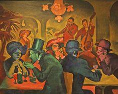 Bohumil Kubišta, Café, 1910, Gallery of Modern Art in Hradec Králové