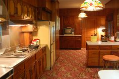 The kitchen that in it's day had all the mod cons plus more things that you wouldn't know were there such as the extra hotplates near the stove