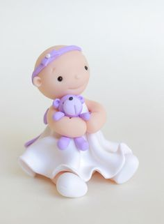 Christening Baptism Birthday Baby Girl with by HeartmadeCottage