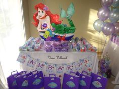 The Little Mermaid Birthday Party Ideas | Photo 13 of 51 | Catch My Party
