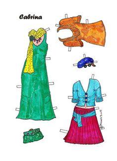 Karen`s Paper Dolls: Cabrina 1-8 Paper Doll in Colours. Cabrina 1-8 Rosa 1-4…