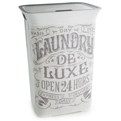 nostalgic print plastic laundry basket - - Yahoo Image Search Results