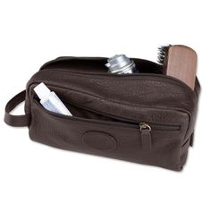 Just found this Mens Bison Leather Toiletry Bag - Bison Toiletry Kit -- Orvis on Orvis.com!