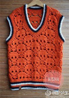 Crochet For Kids, Crochet Top, Sugar Skull Crafts, Crochet Skull, Winter Project, Sleeveless Cardigan, Crochet Cardigan, Kids Outfits, Crochet Patterns