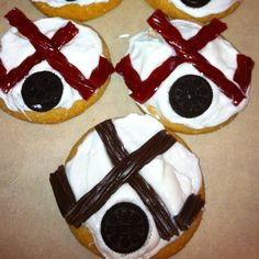 Hockey Sugar cookies. Gotta make if we go to tourney and it's streamed.